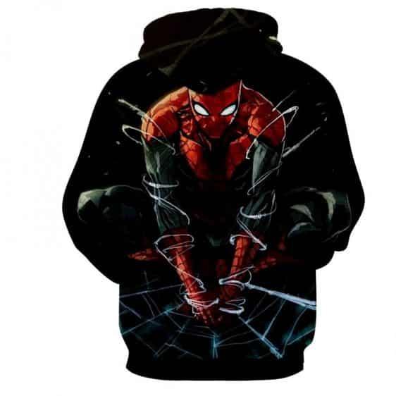 The Fierce Spider-Man 3D Design Cool Hoodie