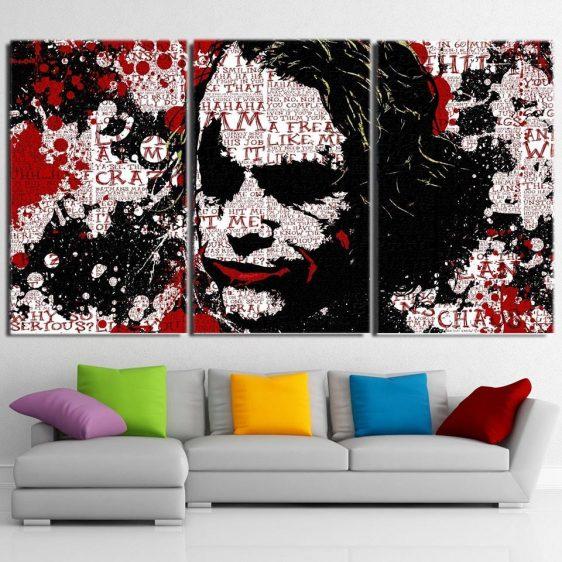 The Freakin Badass Joker 3pcs Wall Art Canvas Print