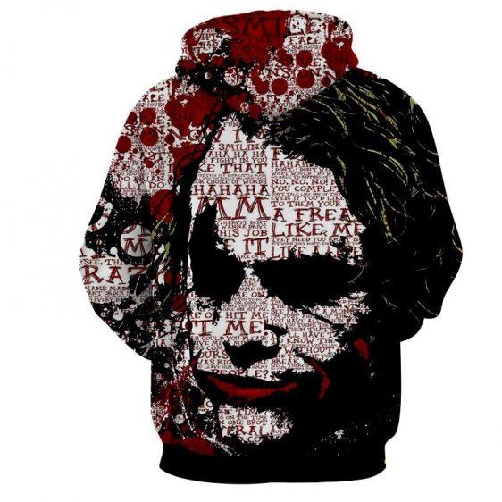 The Freakin Badass Joker Bloody Design Full Print Hoodie