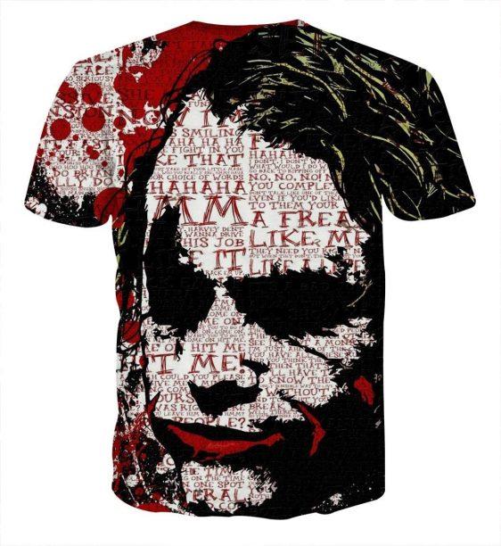 The Freakin Badass Joker Bloody Design Print T-Shirt