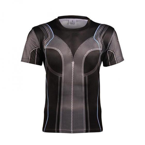 The Hawkeye Marvel Superhero Black Edition Modern Workout T-shirt