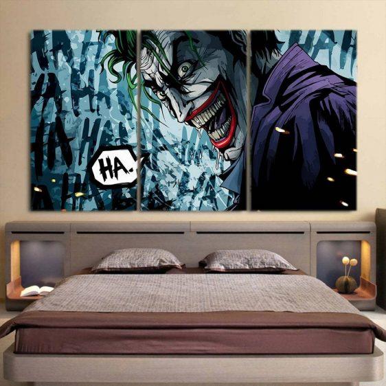 The Homicidal Psychopath Joker 3pcs Wall Art Canvas Print