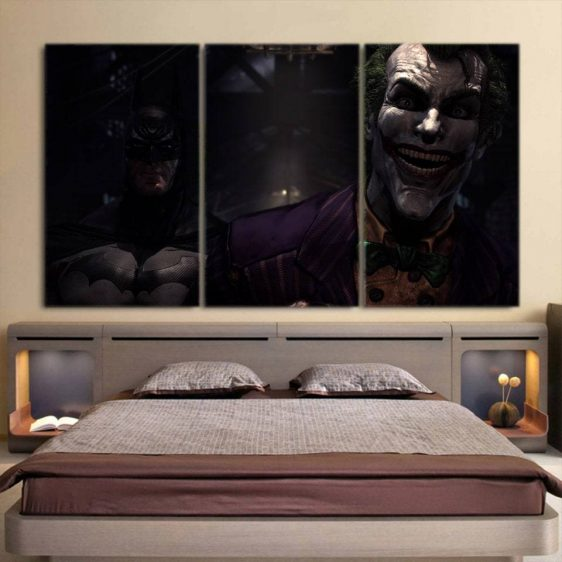 The Ill-Tempered Harsh Joker 3pcs Wall Art Canvas Print