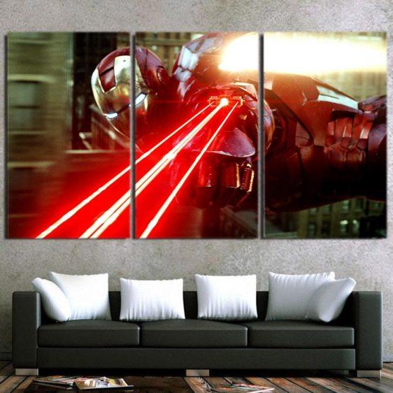 The Iron Man's Power Arc Reactor 3pcs Canvas Print