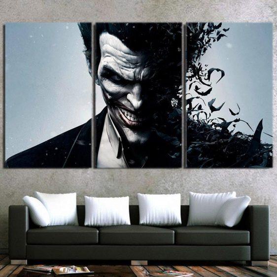 The Irrational Joker Face 3pcs Wall Art Canvas Print