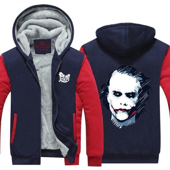 The Joker Legendary Heath Ledger Actor Portrait Hooded Jacket