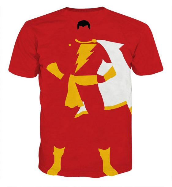 The Knockout Dynamite Captain Marvel Shazam Red Print T-Shirt