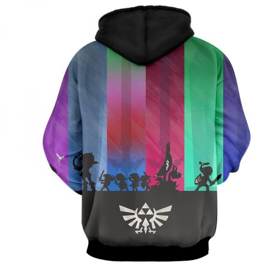 The Legend Of Zelda Cool Shadow Of The Characters Hoodie