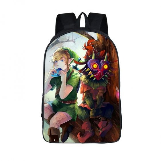 The Legend Of Zelda Majora's Mask Link Fan Art Backpack Bag