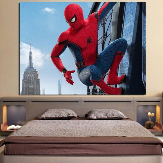 The Look At Spider-Man View 1pcs Wall Art Canvas Print
