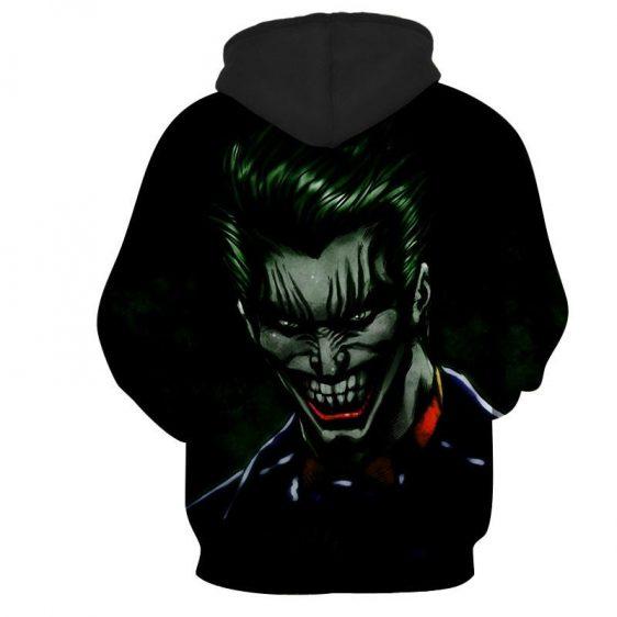 The Mad Evil Face Of Joker Design Full Print Hoodie