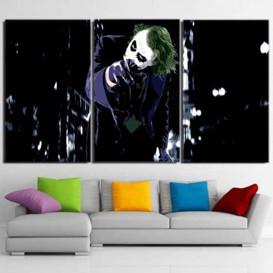 The Malicious Killer Joker 3pcs Wall Art Canvas Print