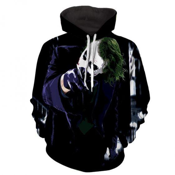 The Malicious Killer Joker Design Full Print Hoodie