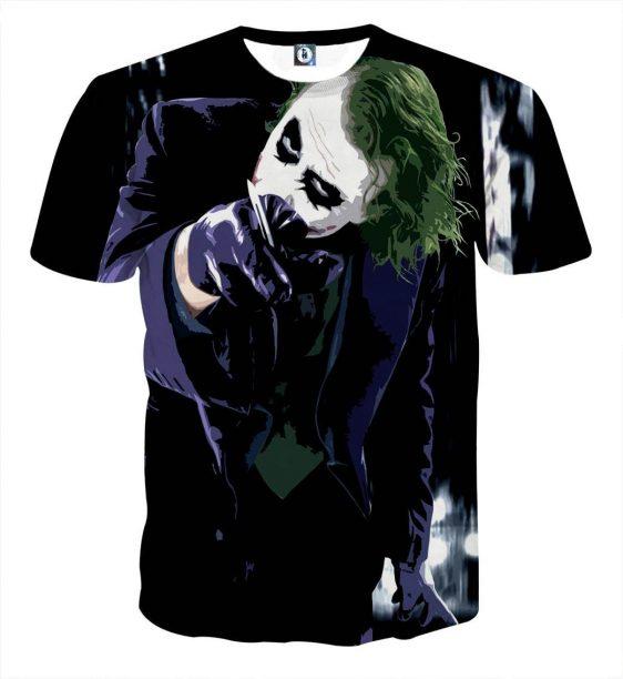 The Malicious Killer Joker Design Full Print T-Shirt