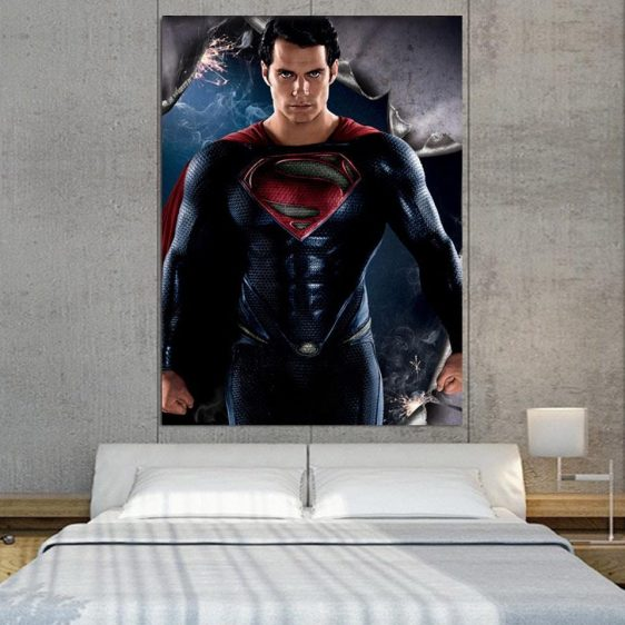 The Marvelous Superman Portrait Design 1pcs Canvas Print