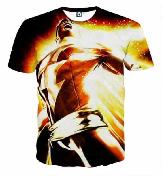 The Mesmerizing Captain Marvel Shazam Full Print T-Shirt