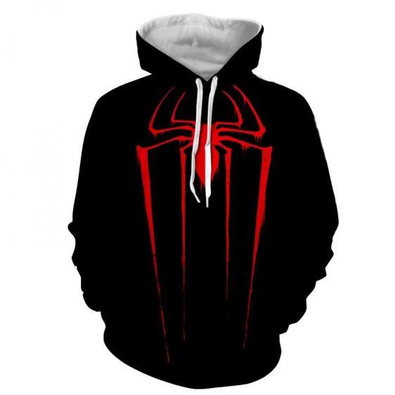 The Powerful Red Spider Dark Full Print Design Dope Hoodie