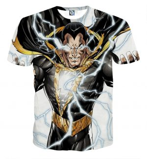 The Pure Class Epic Black Suit Captain Marvel Shazam T-Shirt