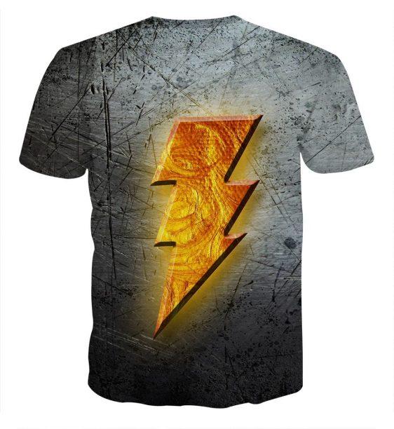 The Remarkable Captain Marvel Shazam Lightning Logo T-Shirt