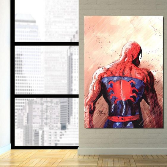 The Spider-Man Back Style 1pcs Wall Art Canvas Print