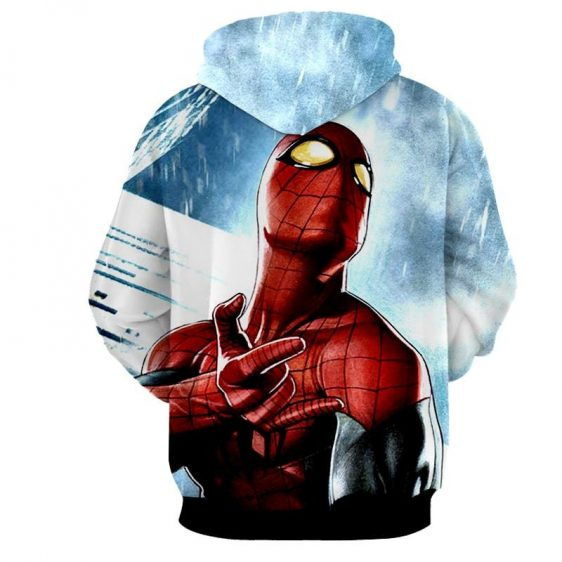 The Spider-Man Power Net Sign Full Print Design Hoodie