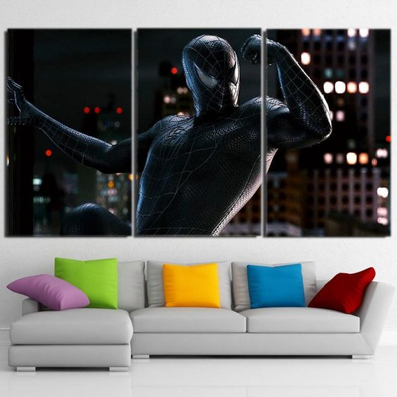 The Strong Dope Spider-Man Design 3pcs Wall Art Canvas Print