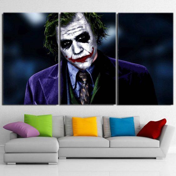 The Thoughtless Insidious Joker 3pcs Wall Art Canvas Print
