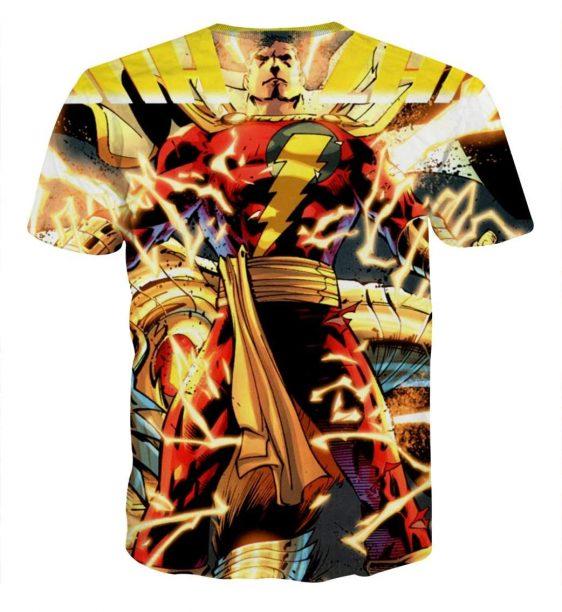 The Ultimate Lightning Captain Marvel Shazam Blue T-Shirt