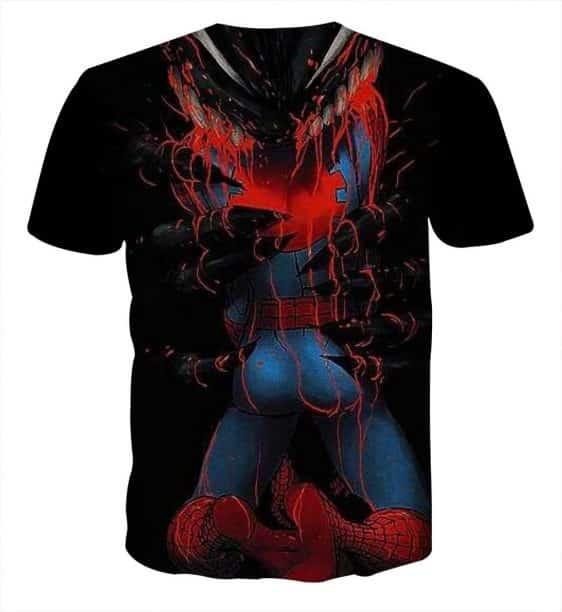 The Villain Defeat Spider-Man Design Full Print T-Shirt