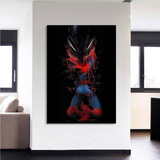 The Villain Defeat Spider-Man Portrait Design 1pcs Canvas