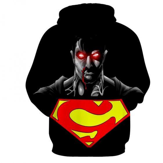 The Wicked Black Superman Dark Design Full Print Hoodie