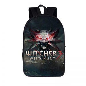 The Witcher 3 Wild Hunt Wolves Symbol Emblem Backpack Bag