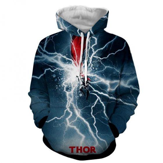 Thor Avengers Marvel Comic The Dark World Mjolnir Hoodie