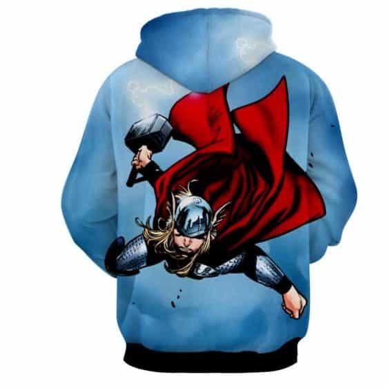 Thor Avengers Marvel Fighting Mjolnir Comic Nice Hoodie