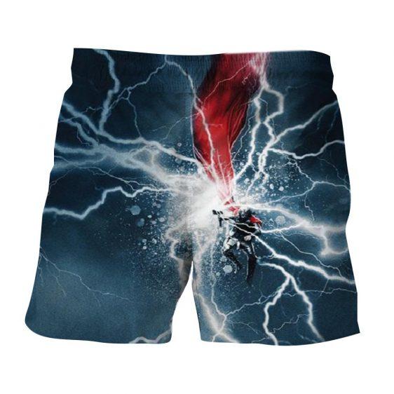 Thor Cartoon On Fight Magical Thunder Hammer Amazing Boardshorts