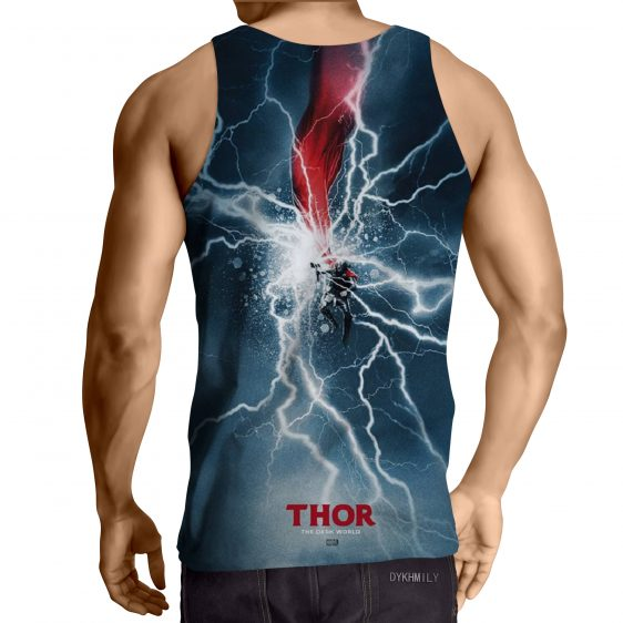 Thor Cartoon On Fight Magical Thunder Hammer Amazing Tank Top
