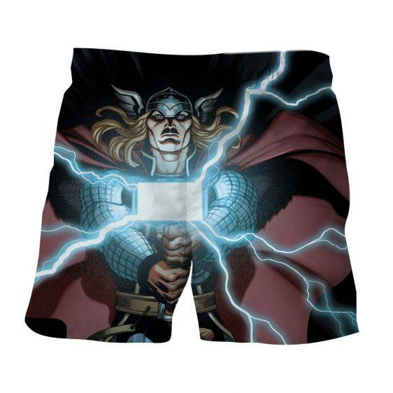 Thor Cartoon Super Avengers Magical Hammer Amazing Boardshorts