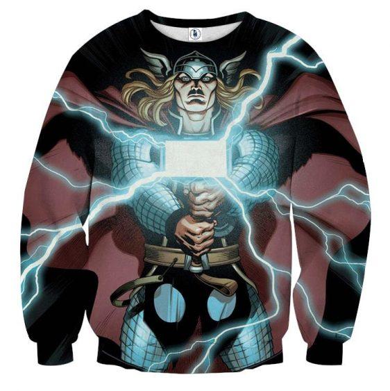 Thor Cartoon Super Avengers Magical Hammer Amazing Sweatshirt