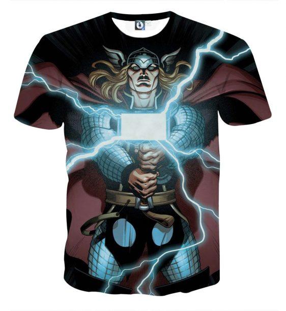 Thor Cartoon Super Avengers Magical Hammer Amazing T-shirt