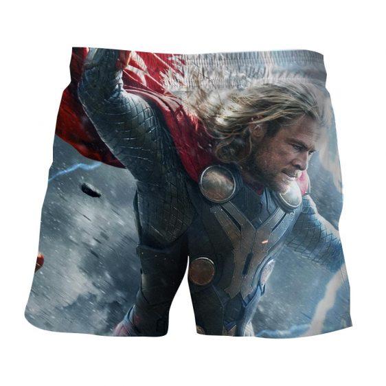 Thor Face Angry On Fight Flying Thunder Impressive Boardshorts