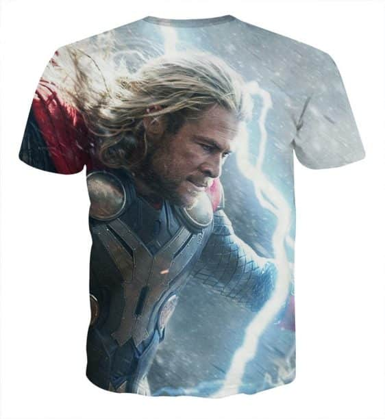 Thor Face Angry On Fight Flying Thunder Impressive T-shirt