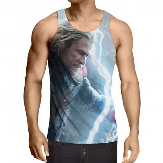 Thor Face Angry On Fight Flying Thunder Impressive Tank Top