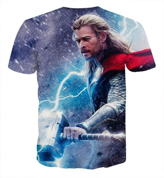 Thor Fighting Super Cool In Snow Thunder Impressive T-shirt