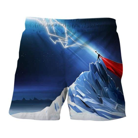 Thor Get Power From Hammer Standing Mountain Cool Boardshorts