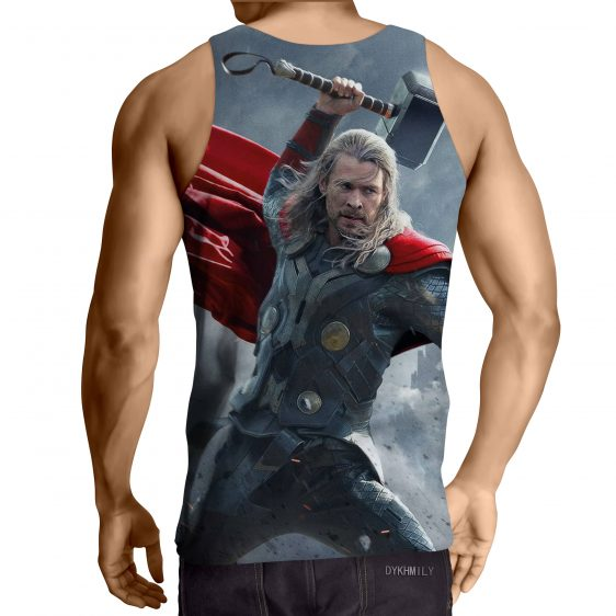 Thor Real Angry On Fight Thunder Hammer Impressive Tank Top