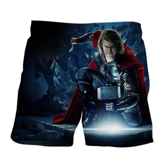 Thor Real Big Getting Power From Hammer Super Cool Boardshorts