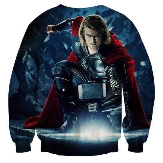Thor Real Big Getting Power From Hammer Super Cool Sweatshirt
