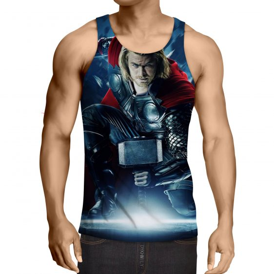 Thor Real Big Getting Power From Hammer Super Cool Tank Top