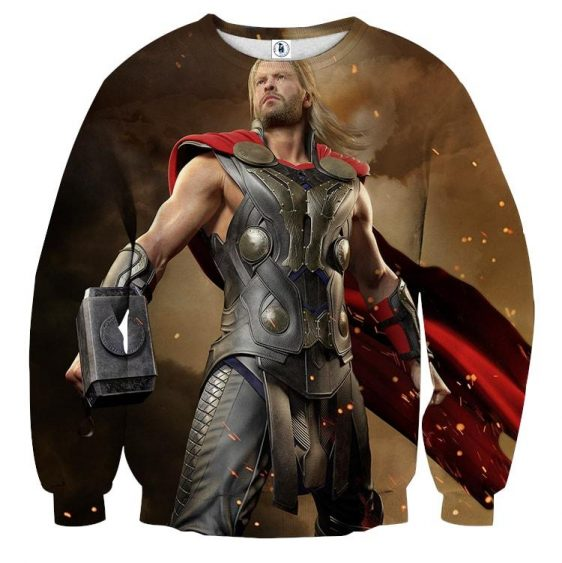 Thor Real Big Standing Nice On Fight Super Cool Sweatshirt