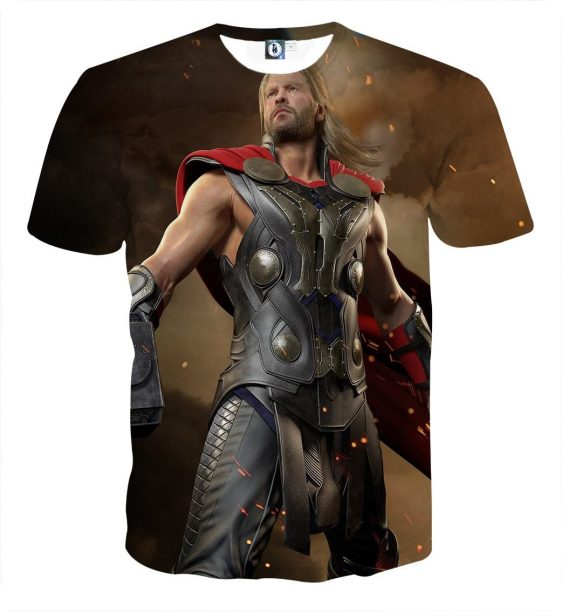 Thor Real Big Standing Nice On Fight Super Cool T-shirt